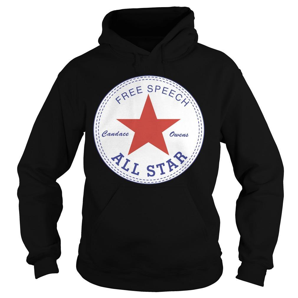 Candace Owens Free Speech All Star Hoodie