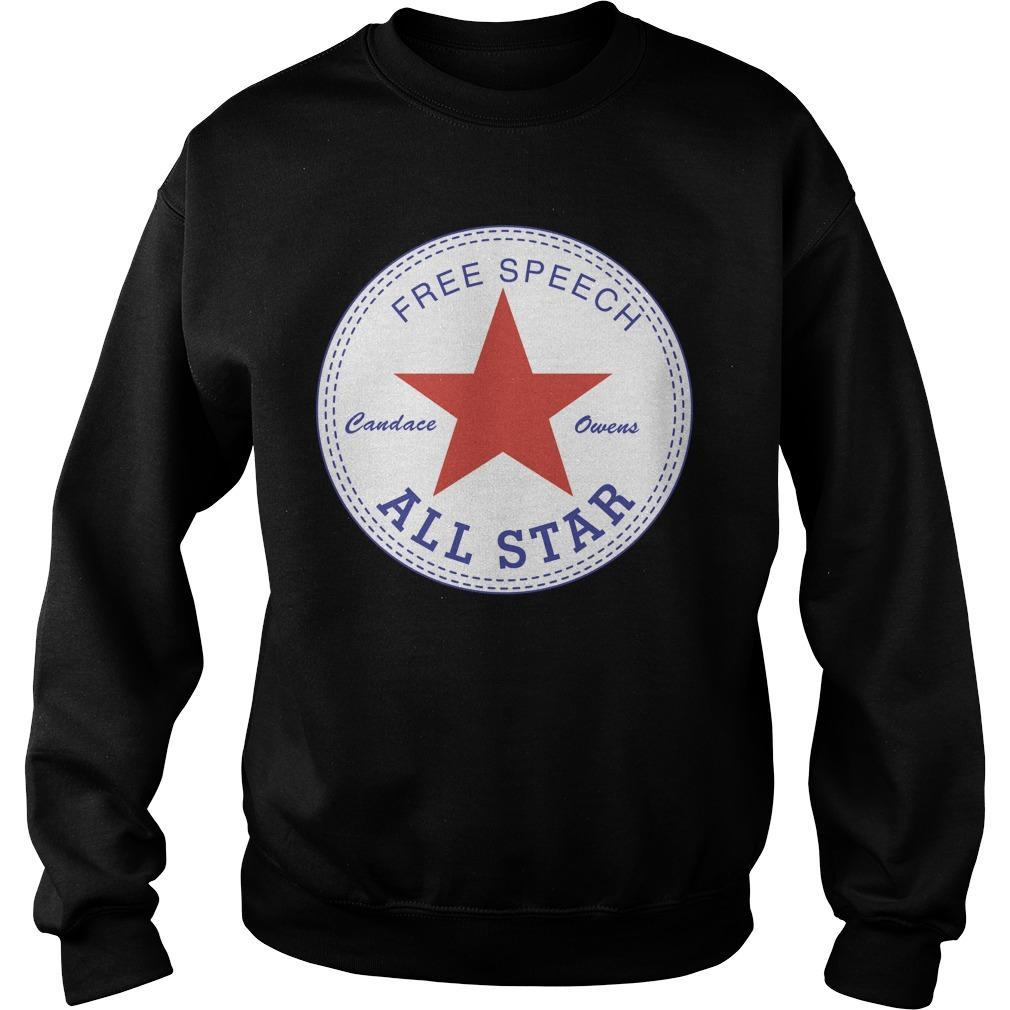 Candace Owens Free Speech All Star Sweater