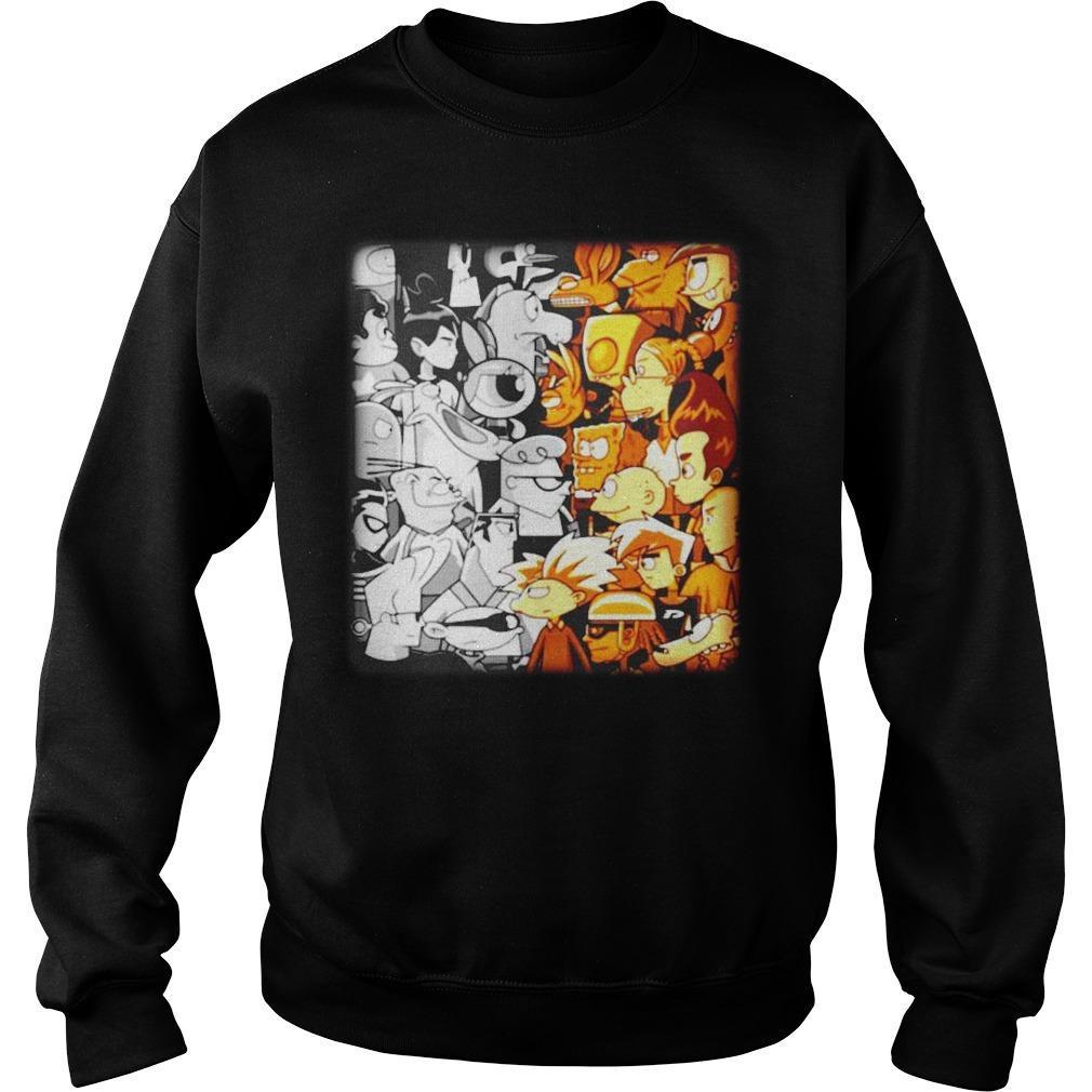 Cartoon Network Vs Nickelodeon Sweater