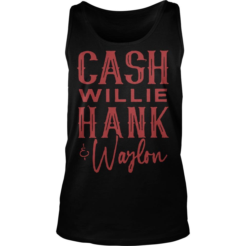 Cash Willie Hank Waylon Tank Top