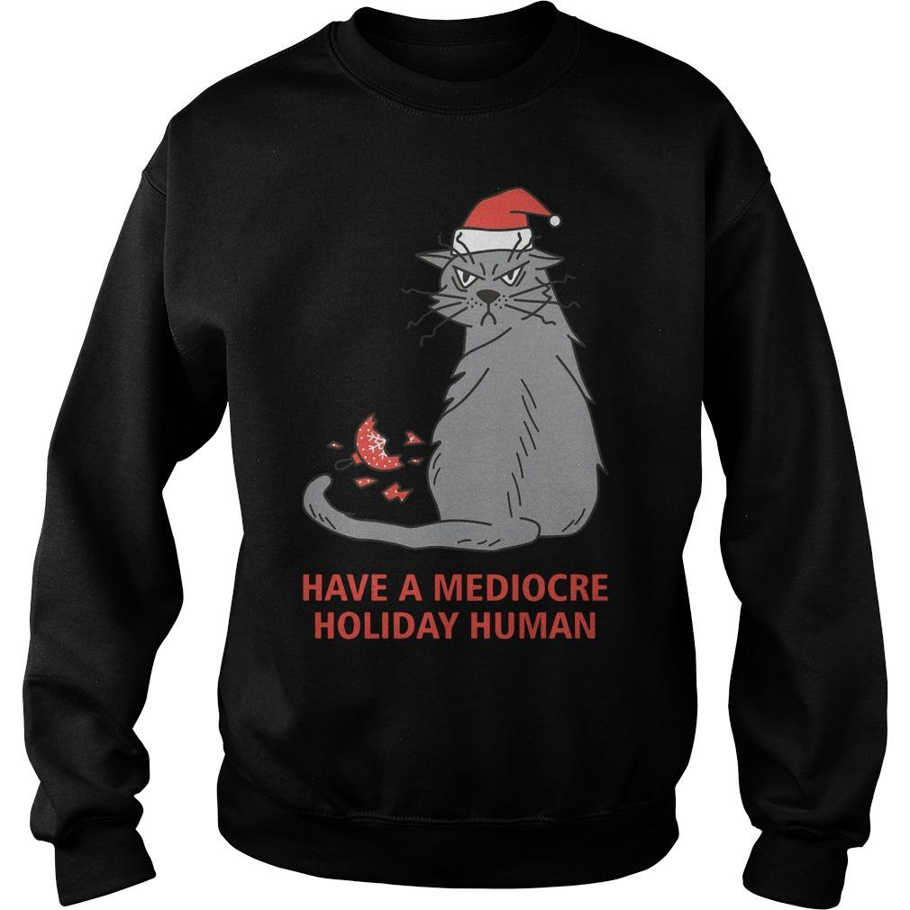 Cat Have A Mediocre Holiday Human Sweater