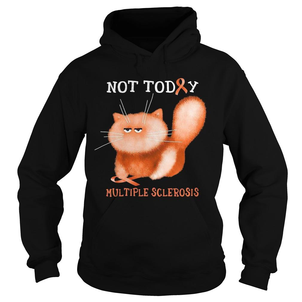 Cat Not Today Multiple Sclerosis Hoodie