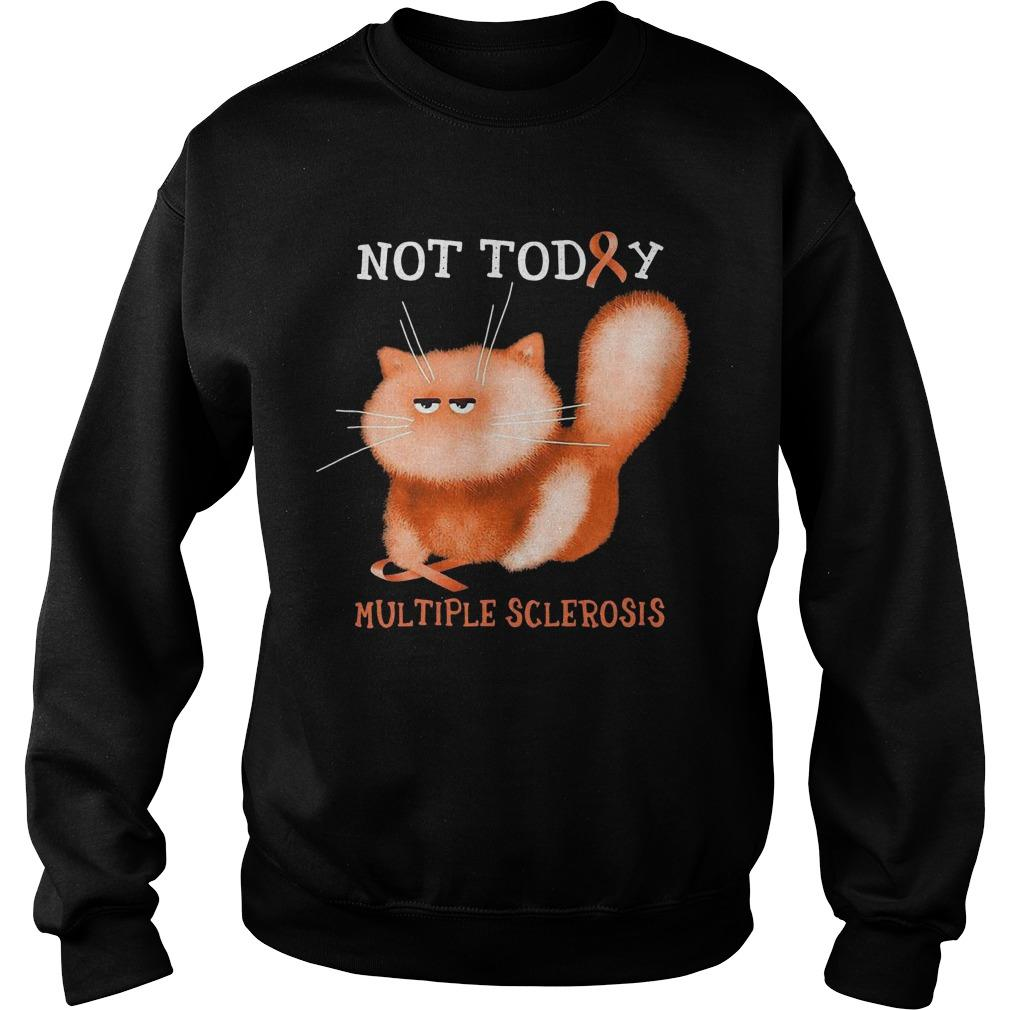 Cat Not Today Multiple Sclerosis Sweater