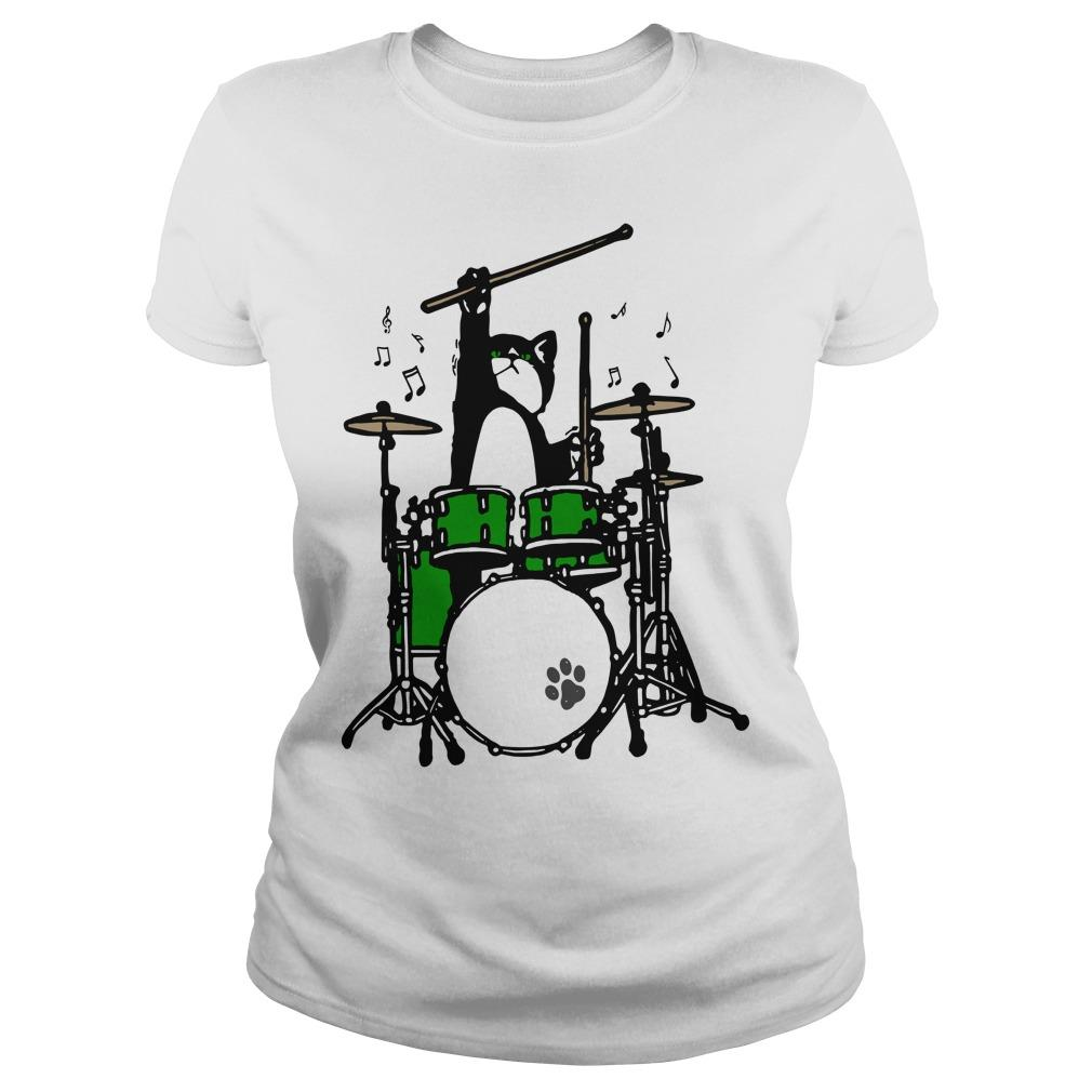 Cat Playing Drums Longsleeve