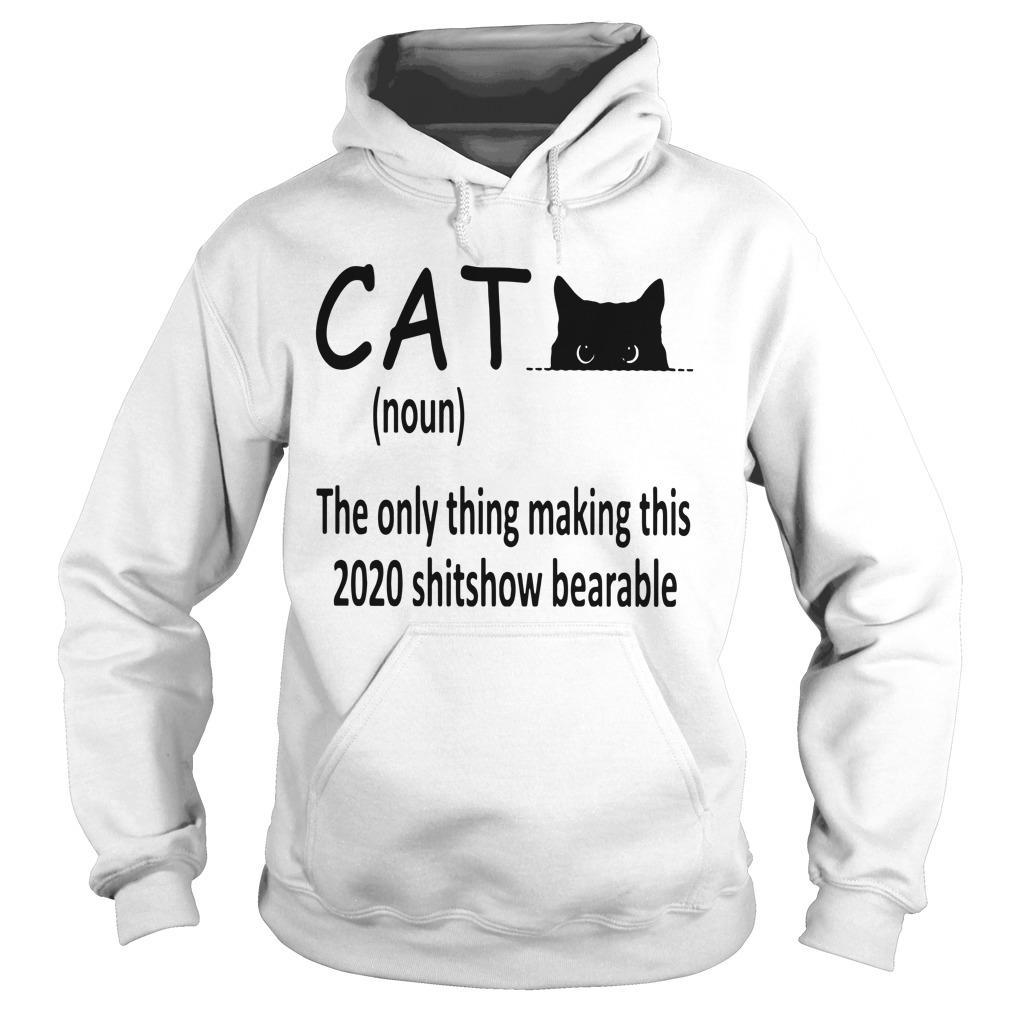 Cat The Only Thing Making This 2020 Shitshow Bearable Hoodie
