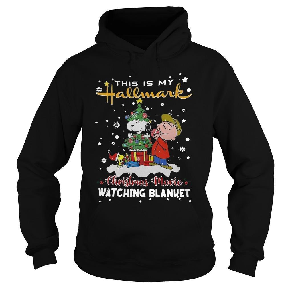 Charlie Brown And Snoopy Woodstock This Is My Hallmark Christmas Movie Hoodie