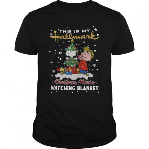 Charlie Brown And Snoopy Woodstock This Is My Hallmark Christmas Movie Shirt