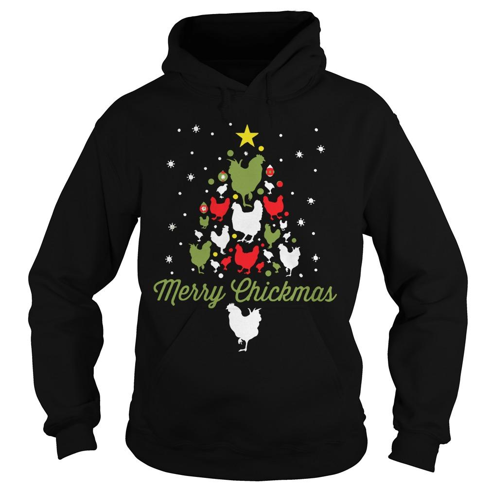 Chicken Christmas Tree Merry Chickmas Hoodie