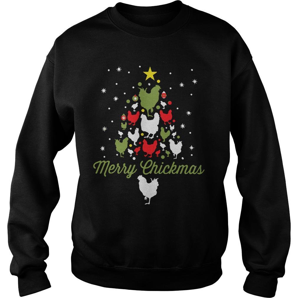 Chicken Christmas Tree Merry Chickmas Sweater