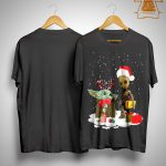 Christmas Baby Yoda And Baby Groot Shirt