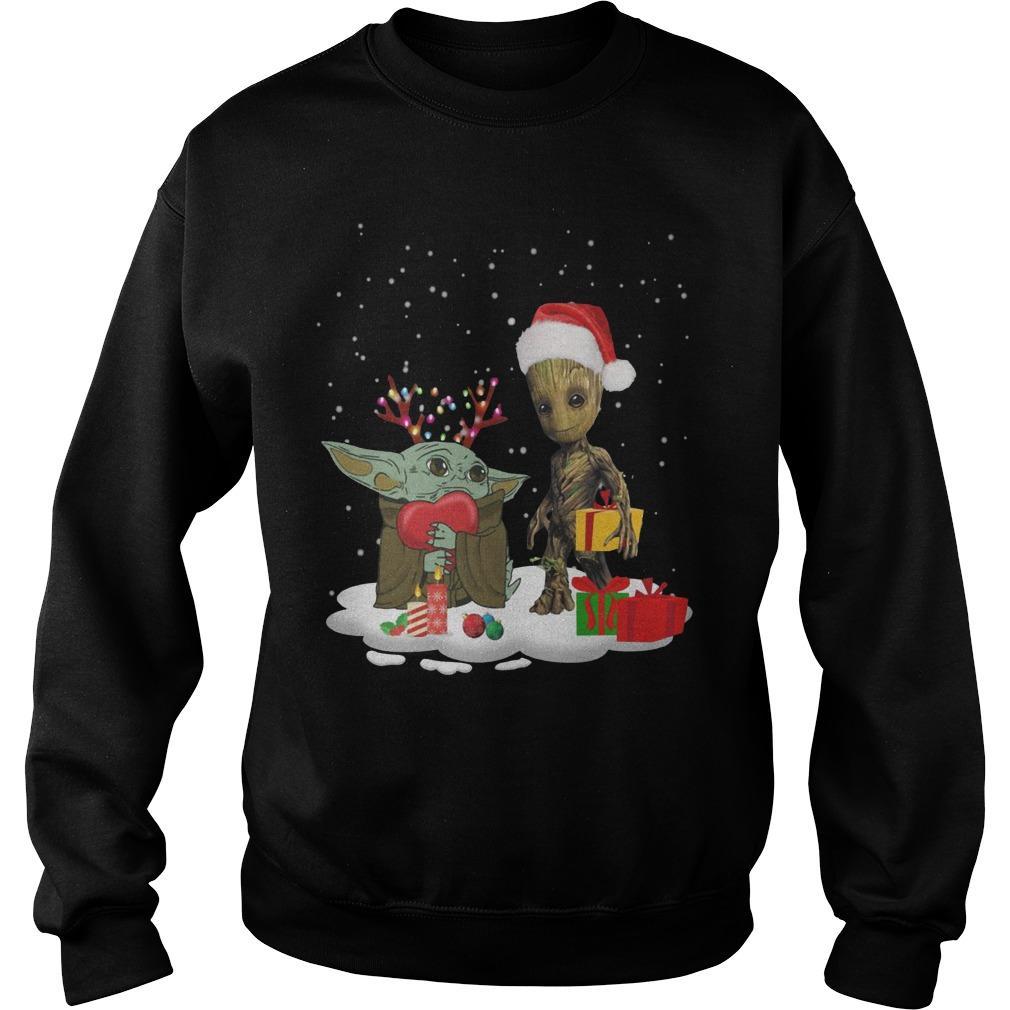 Christmas Baby Yoda And Baby Groot Sweater