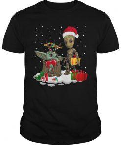 Christmas Baby Yoda Baby Groot Shirt