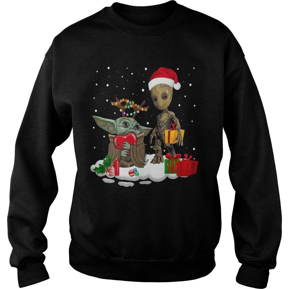 Christmas Baby Yoda Baby Groot Sweater