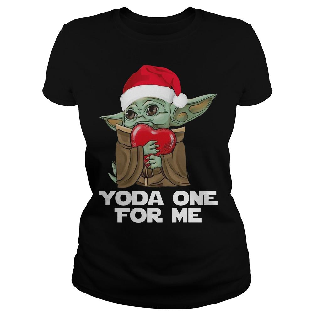 Christmas Baby Yoda One For Me Longsleeve