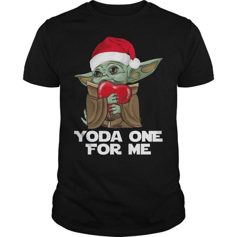 Christmas Baby Yoda One For Me Shirt