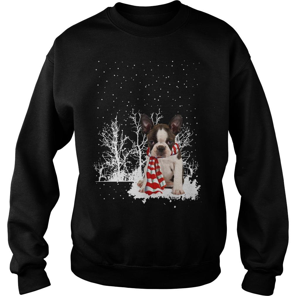 Christmas Boston Terrier Sweater