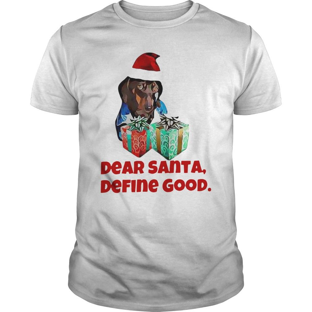 Christmas Dachshund Dear Santa Define Good Longsleeve