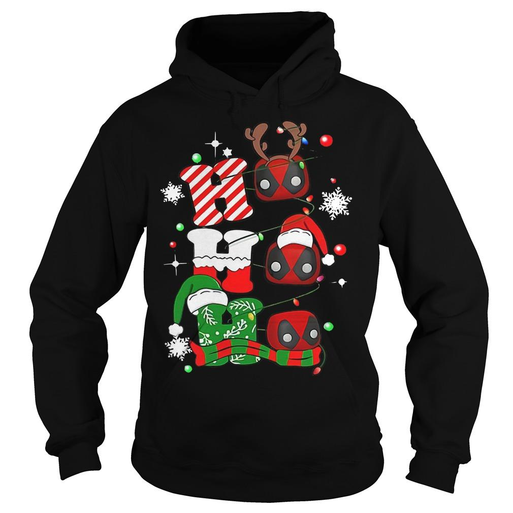 Christmas Deadpool Ho Ho Ho Hoodie