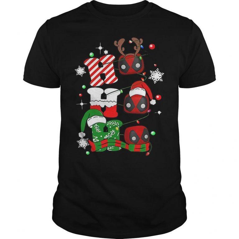 Christmas Deadpool Ho Ho Ho Shirt
