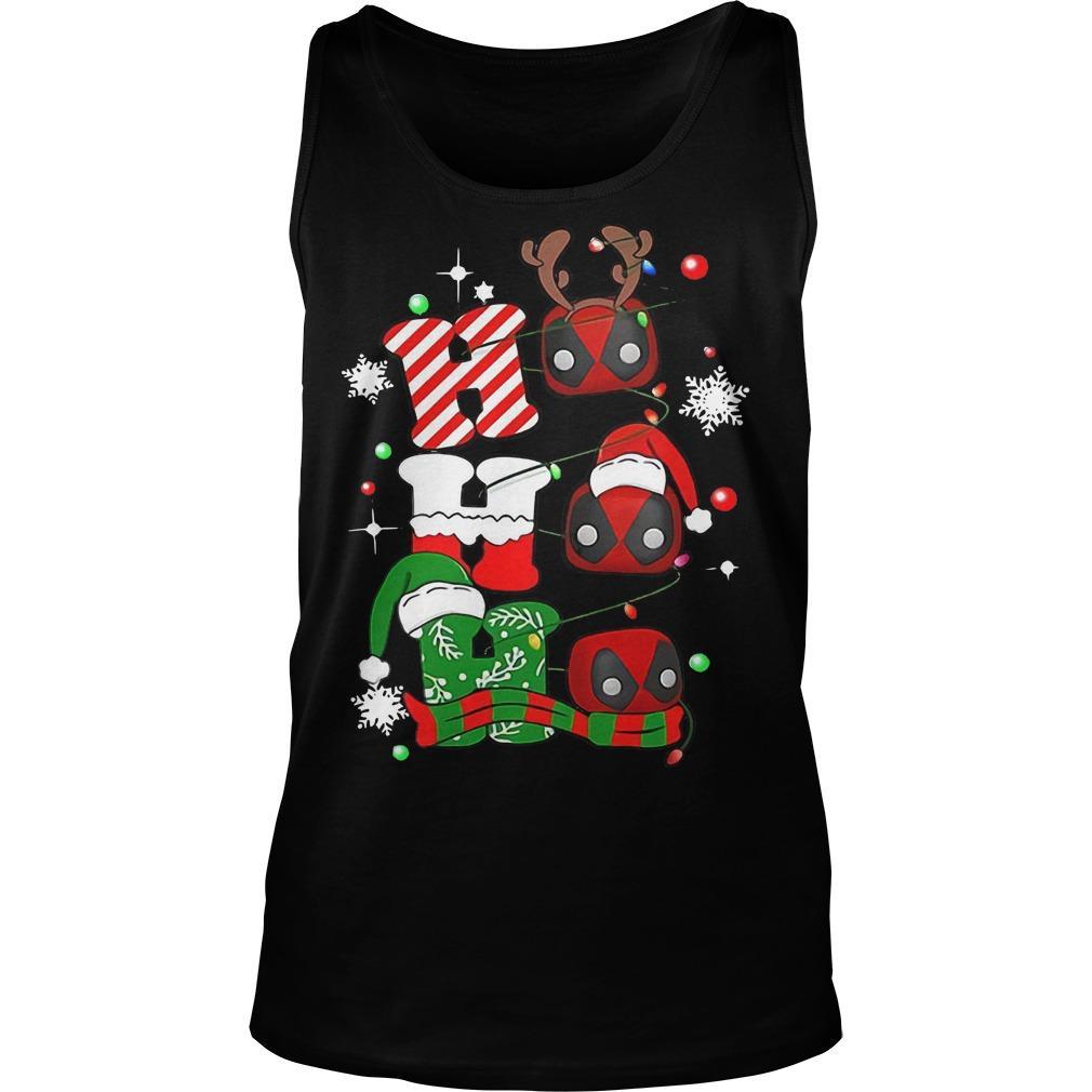 Christmas Deadpool Ho Ho Ho Tank Top