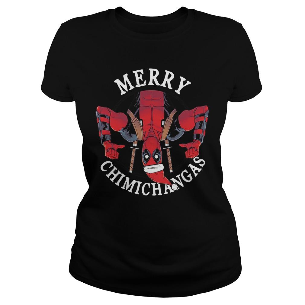 Christmas Deadpool Merry Chimichangas Longsleeve