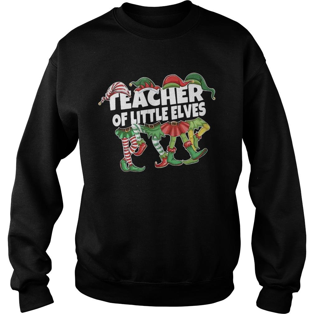 Christmas Elf Teacher Of Little Elves Sweater