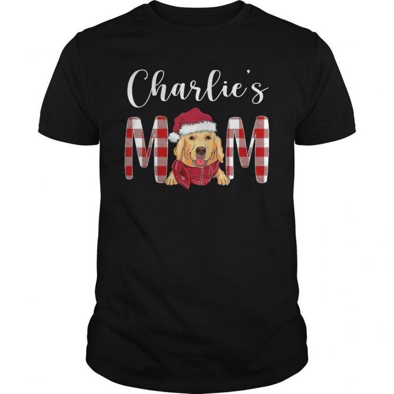 Christmas Golden Retriever Charlie's Mom Shirt
