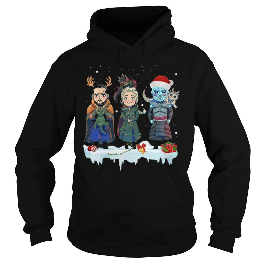 Christmas Jon Snow Daenerys Night King Hoodie