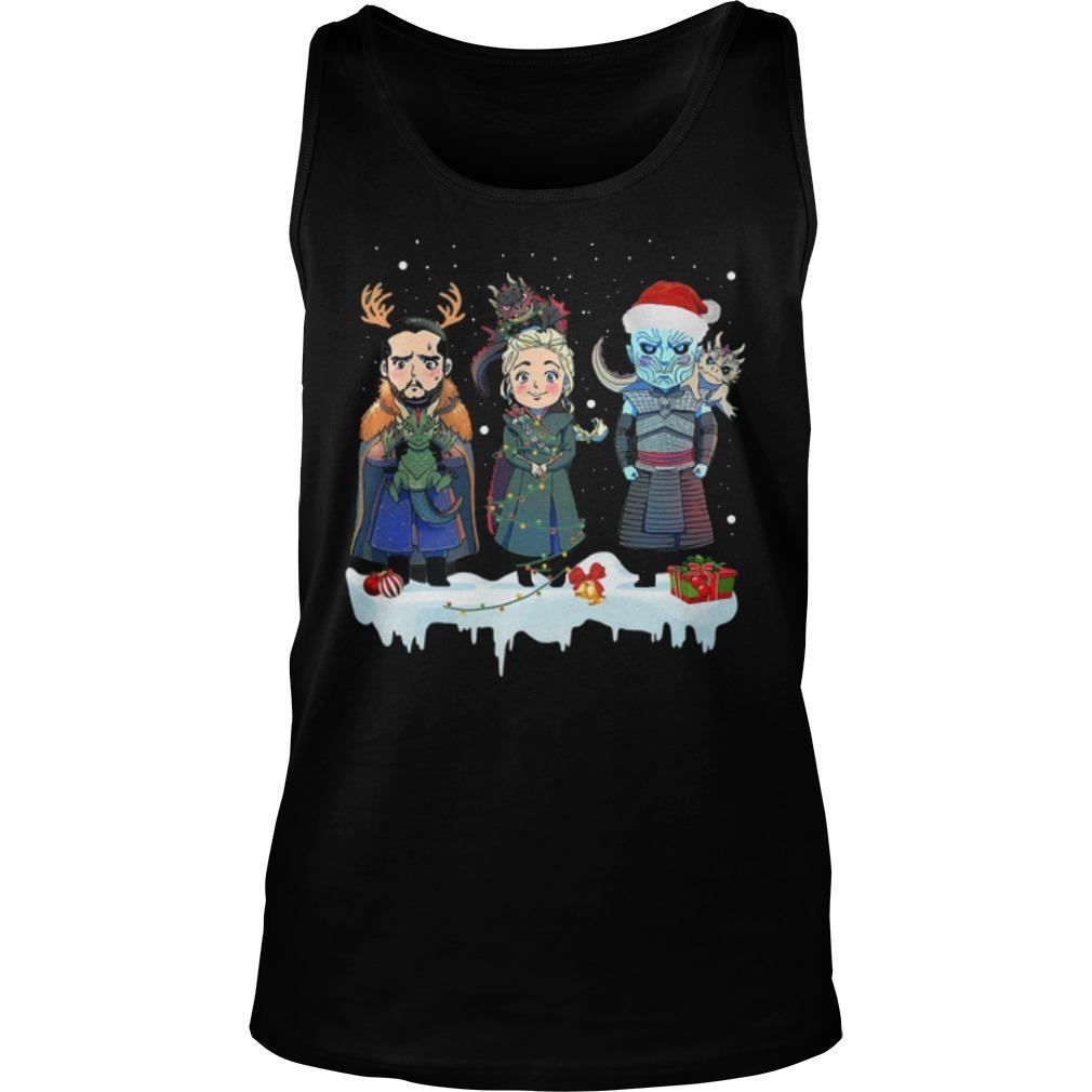 Christmas Jon Snow Daenerys Night King Tank Top