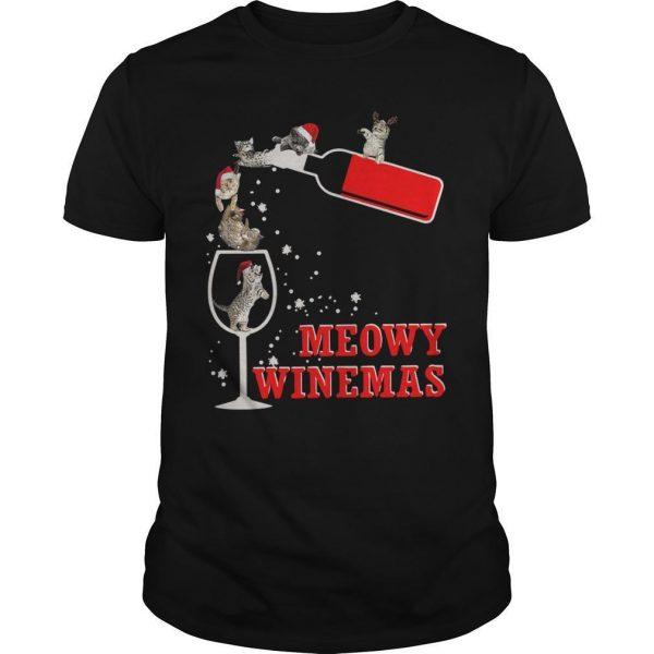 Christmas Meowy Winemas Shirt