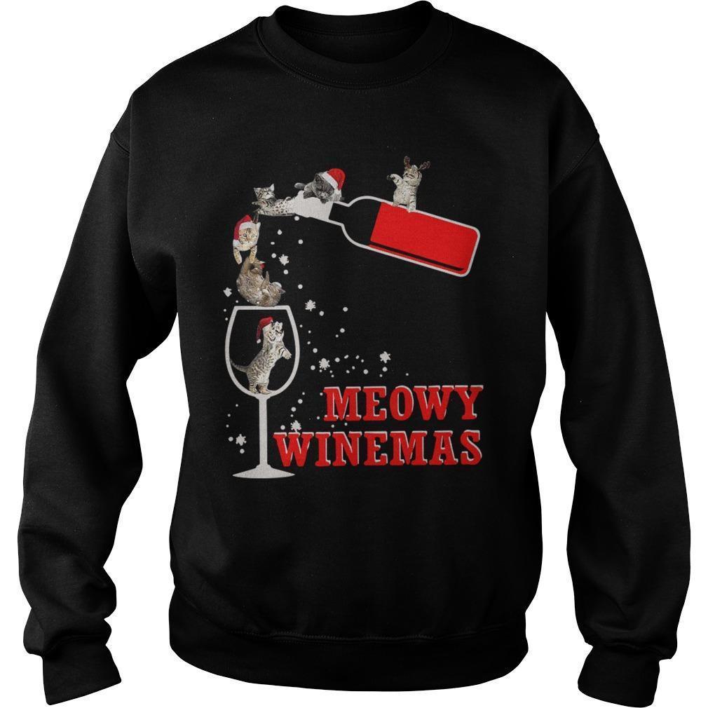 Christmas Meowy Winemas Sweater