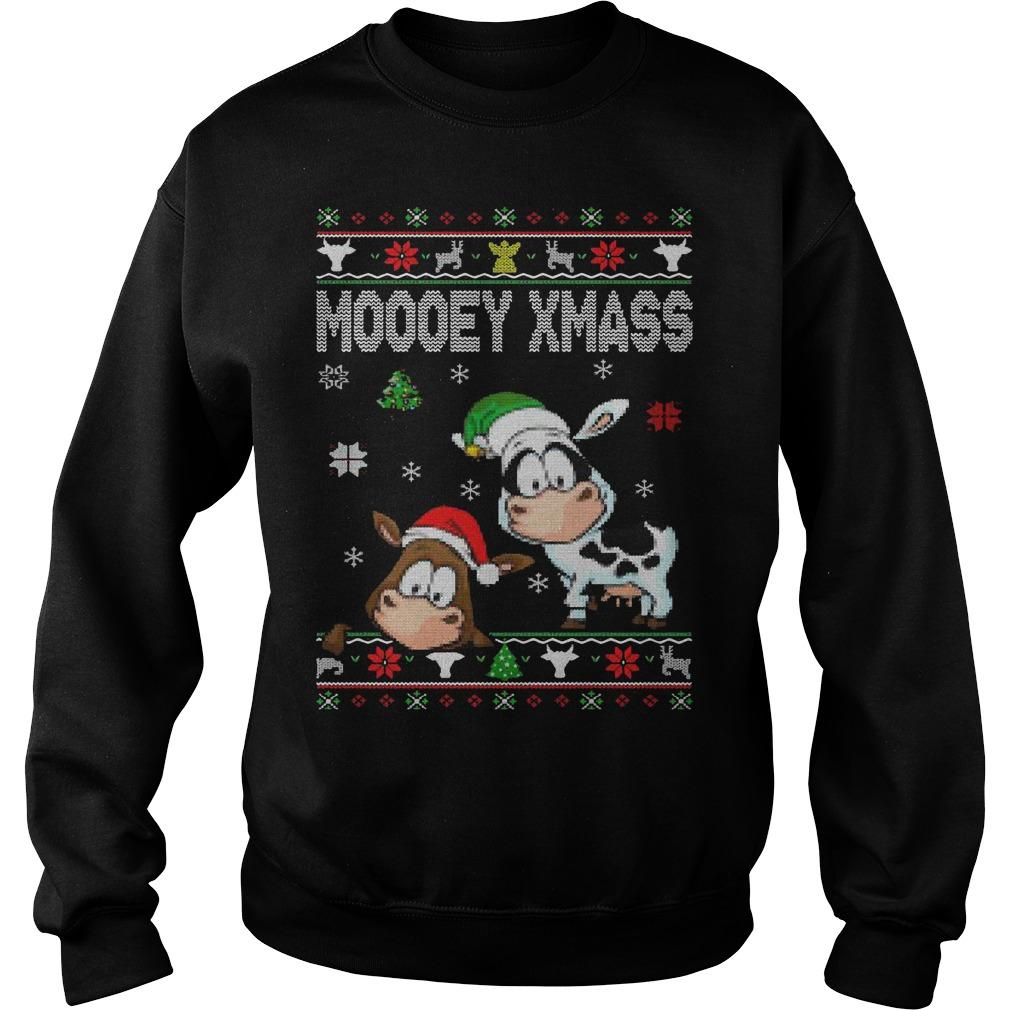 Christmas Moooey Xmass Sweater