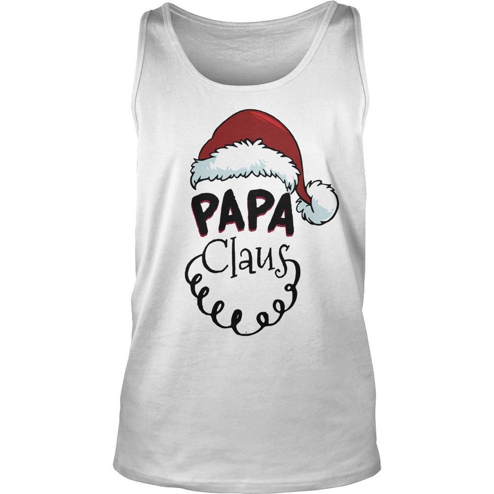 Christmas Papa Claus Tank Top