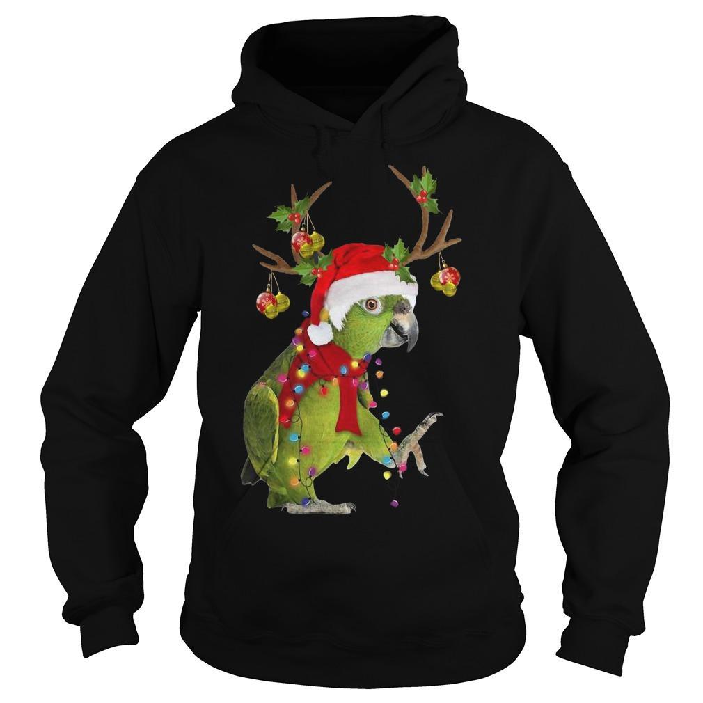 Christmas Parrot Reindeer Hoodie