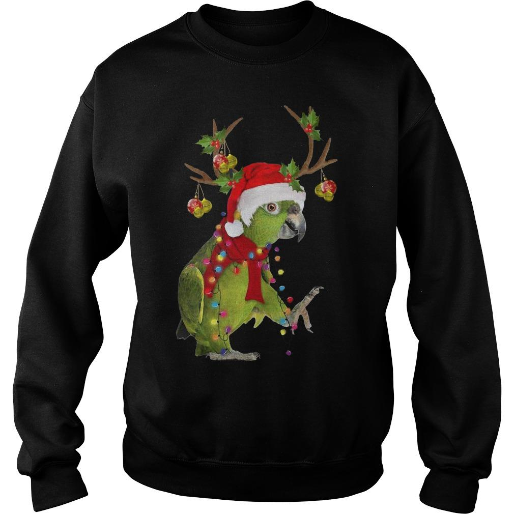 Christmas Parrot Reindeer Sweater