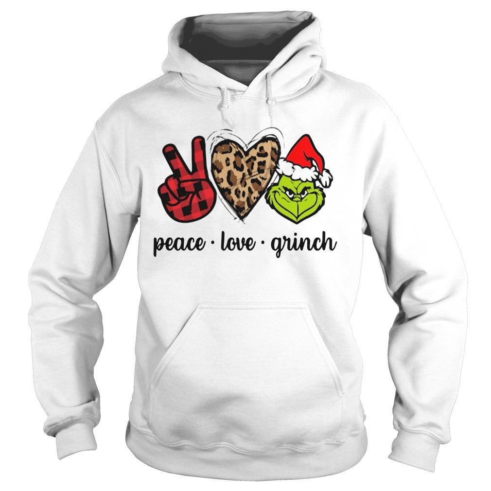 Christmas Peace Love Grinch Hoodie