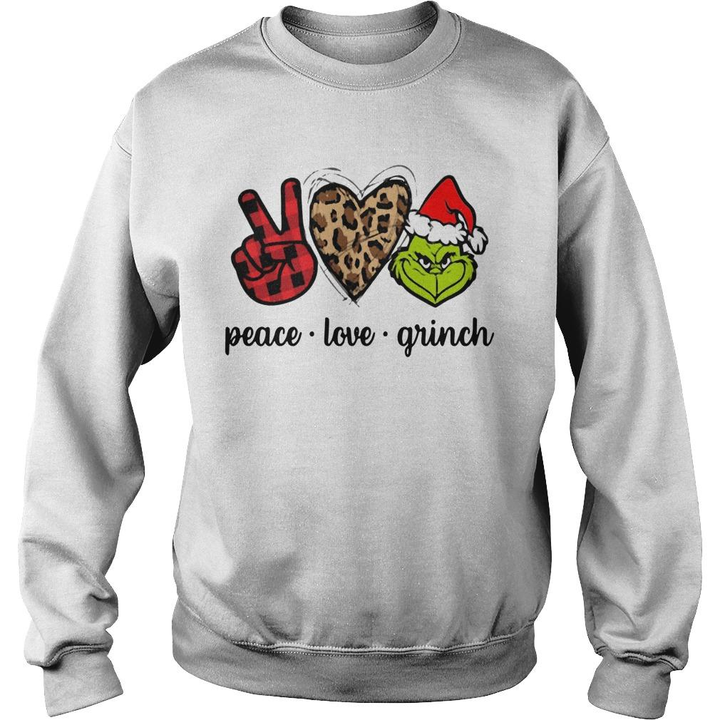 Christmas Peace Love Grinch Sweater