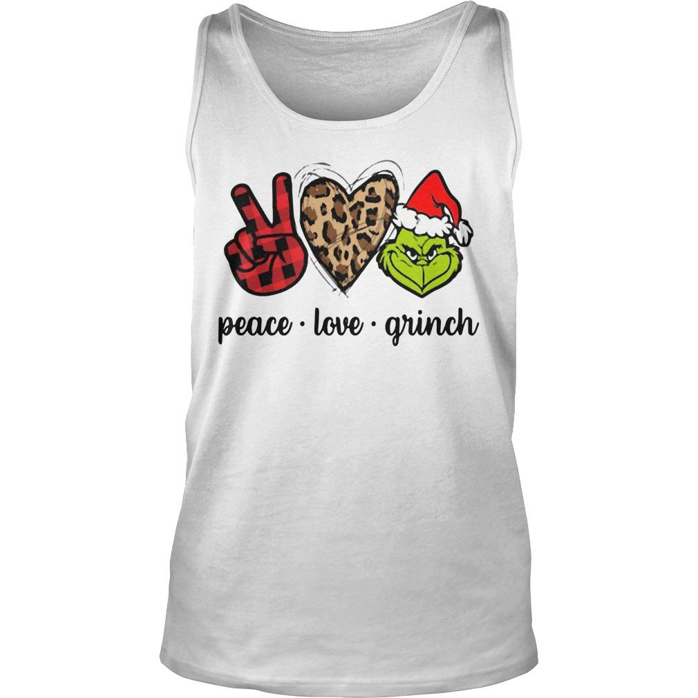 Christmas Peace Love Grinch Tank Top