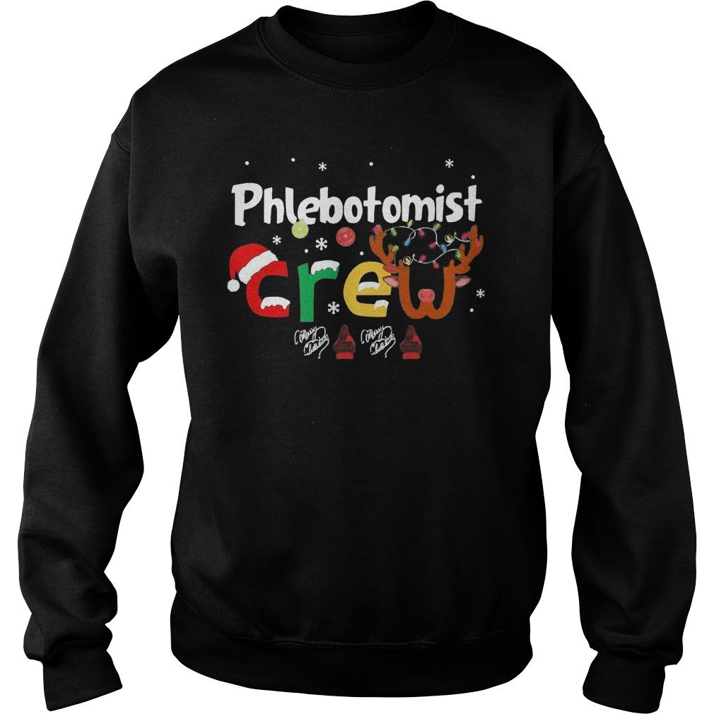 Christmas Phlebotomist Crew Sweater