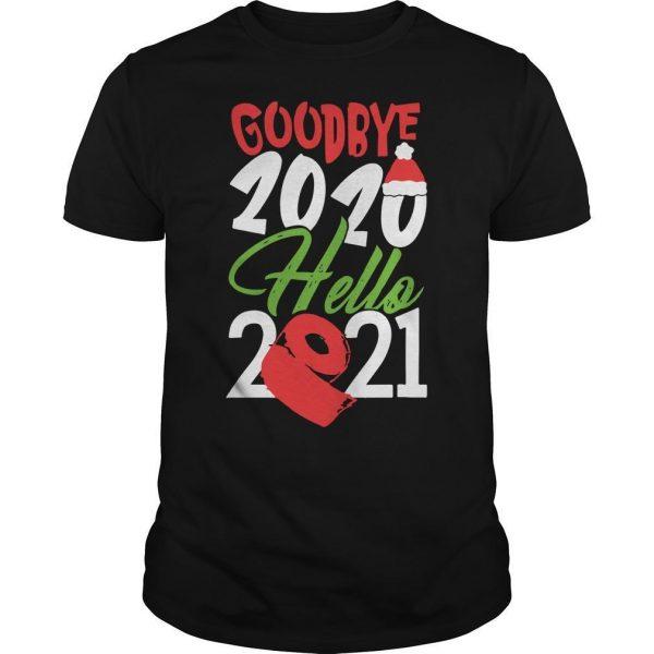 Christmas Santa Hat And Toilet Paper Goodbye 2020 Hello 2021 Shirt