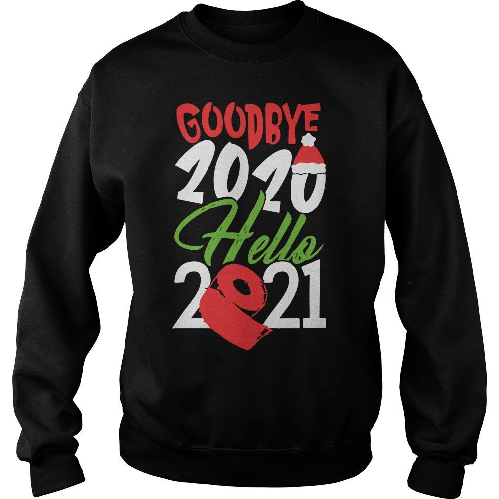 Christmas Santa Hat And Toilet Paper Goodbye 2020 Hello 2021 Sweater