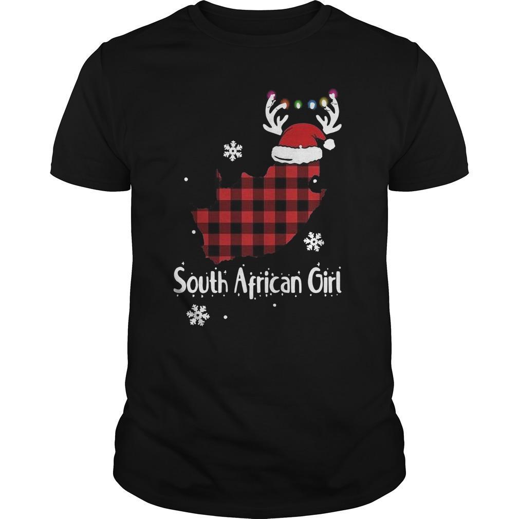Christmas Santa Reindeer South African Girl Longsleeve