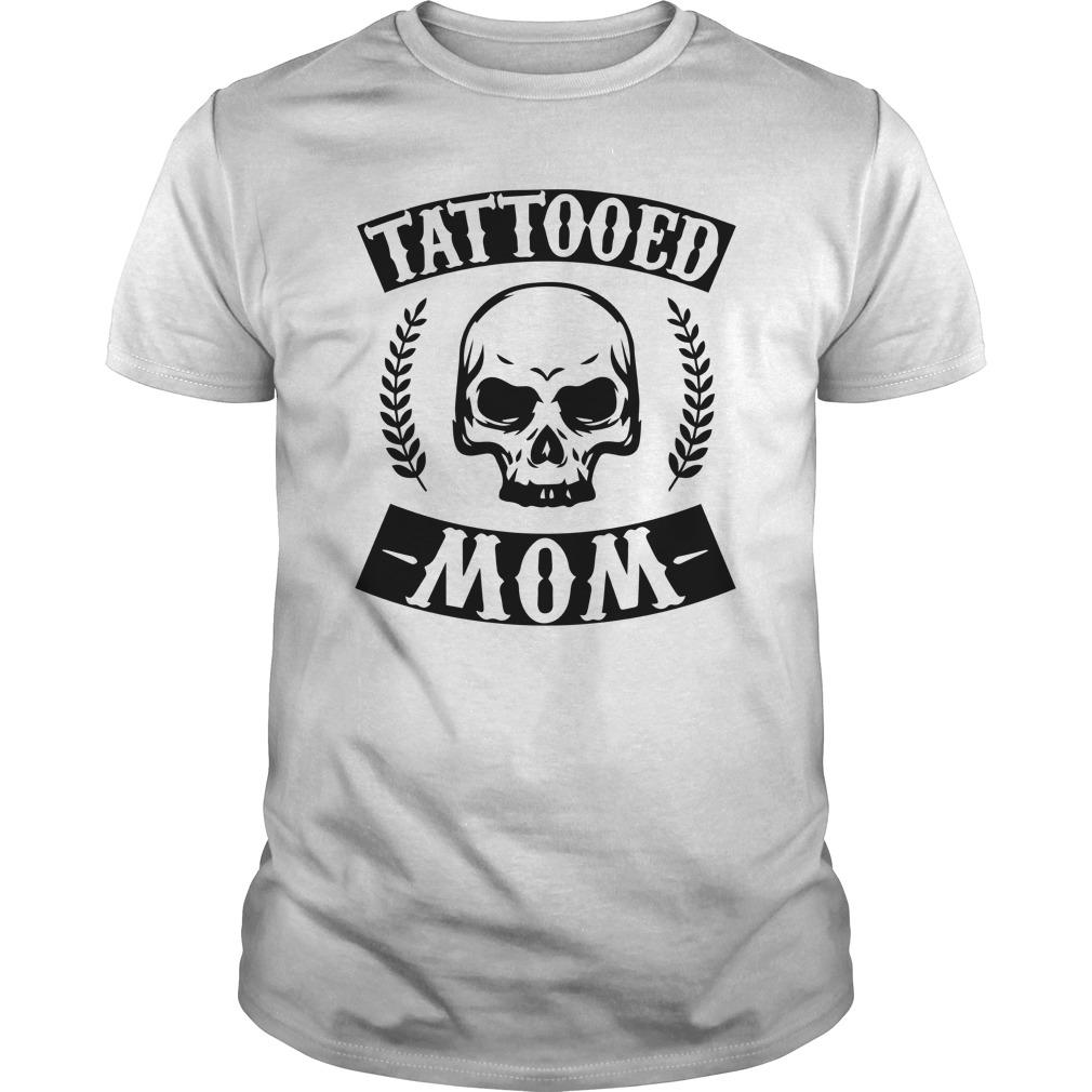 Christmas Skull Tattooed Mom Longsleeve