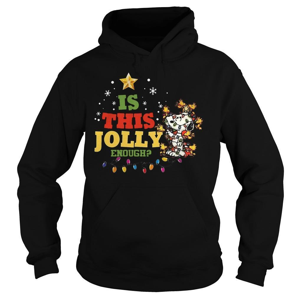 Christmas Snoopy Is This Jolly Enough Hoodie