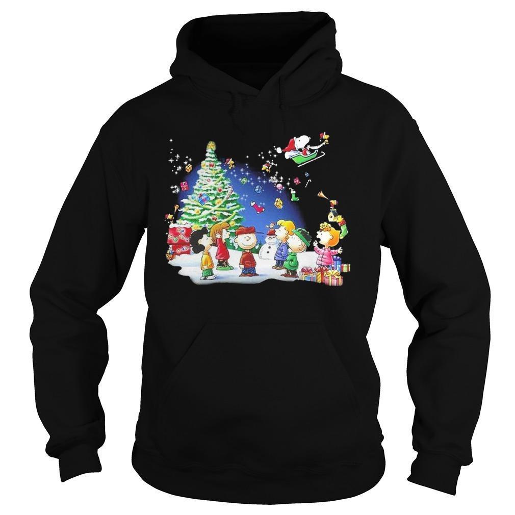 Christmas Snoopy Santa Claus Peanuts Characters Hoodie