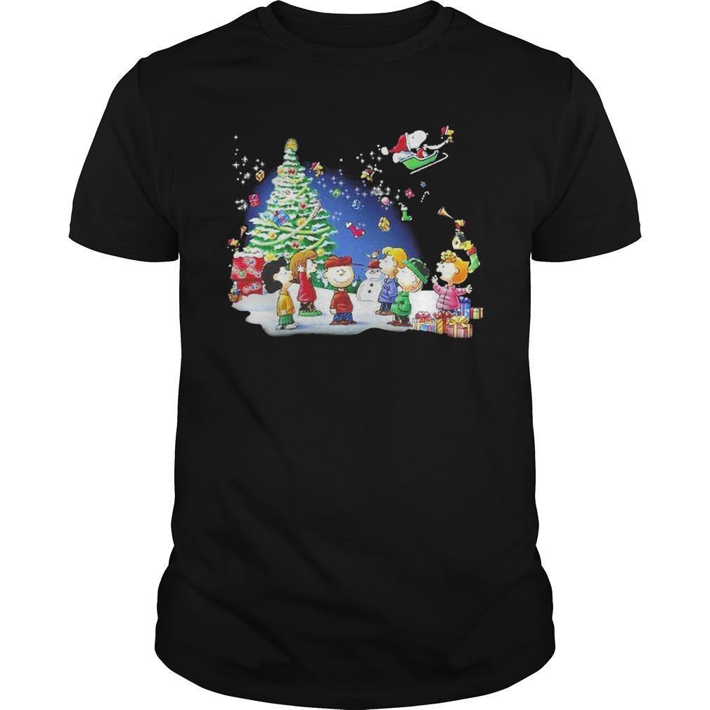Christmas Snoopy Santa Claus Peanuts Characters Longsleeve