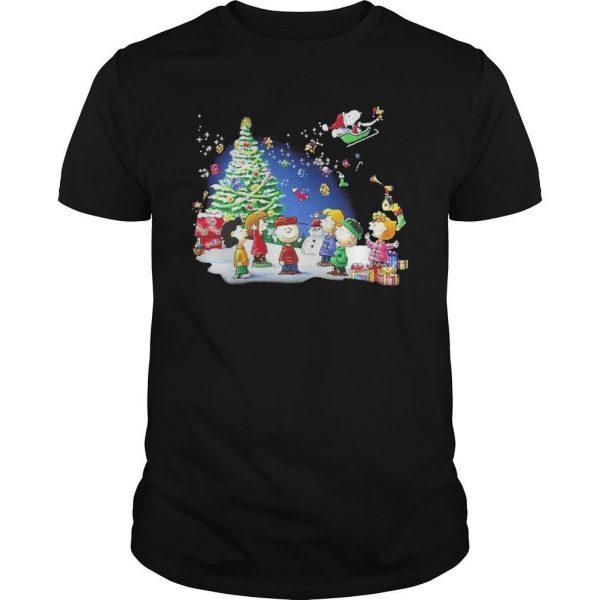 Christmas Snoopy Santa Claus Peanuts Characters Shirt