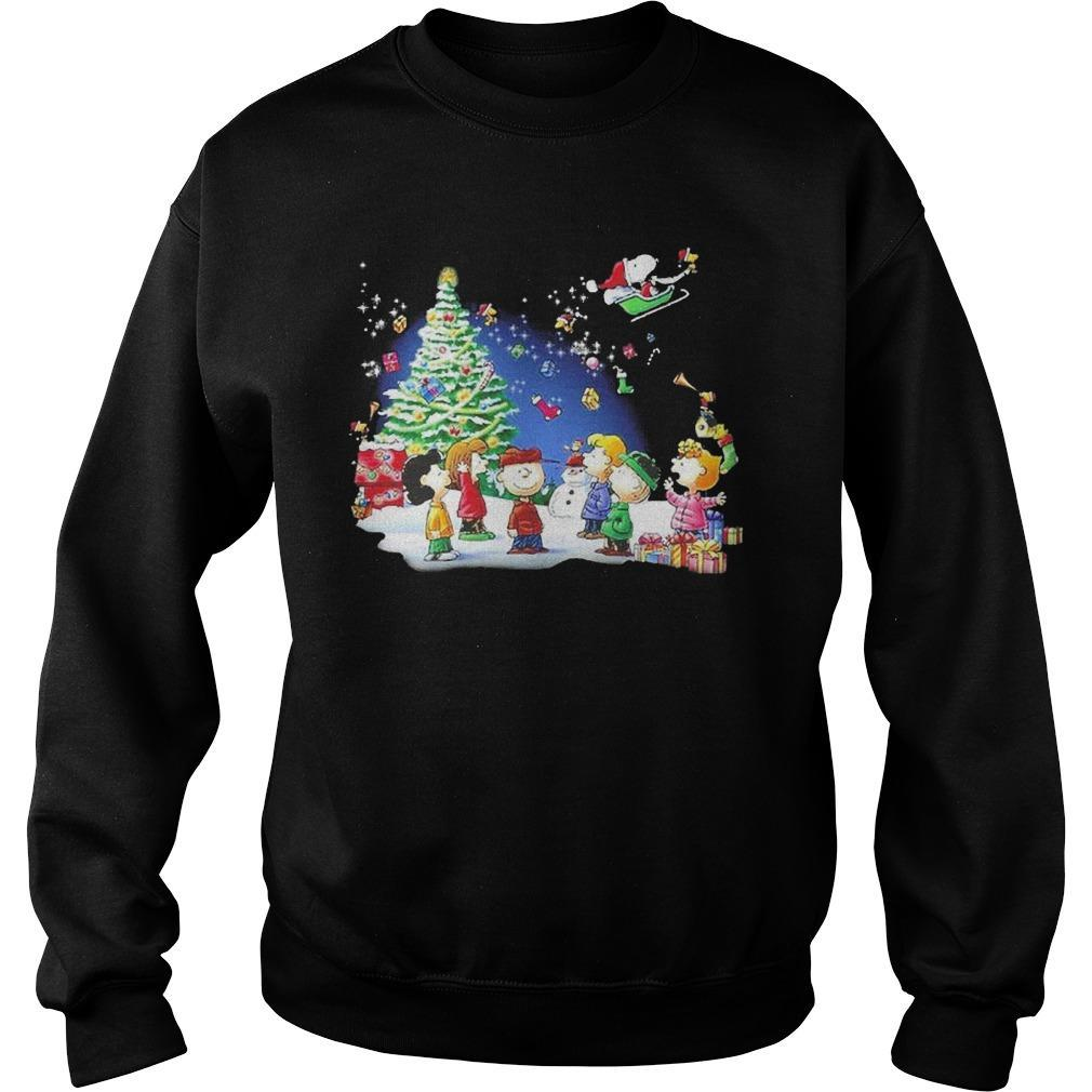 Christmas Snoopy Santa Claus Peanuts Characters Sweater