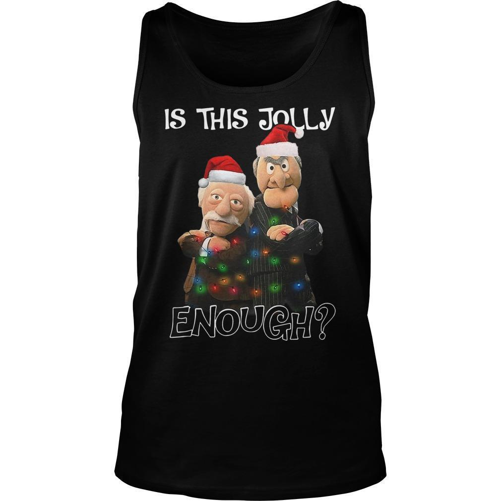 Christmas The Frog Is This Jolly Enough Tank Top