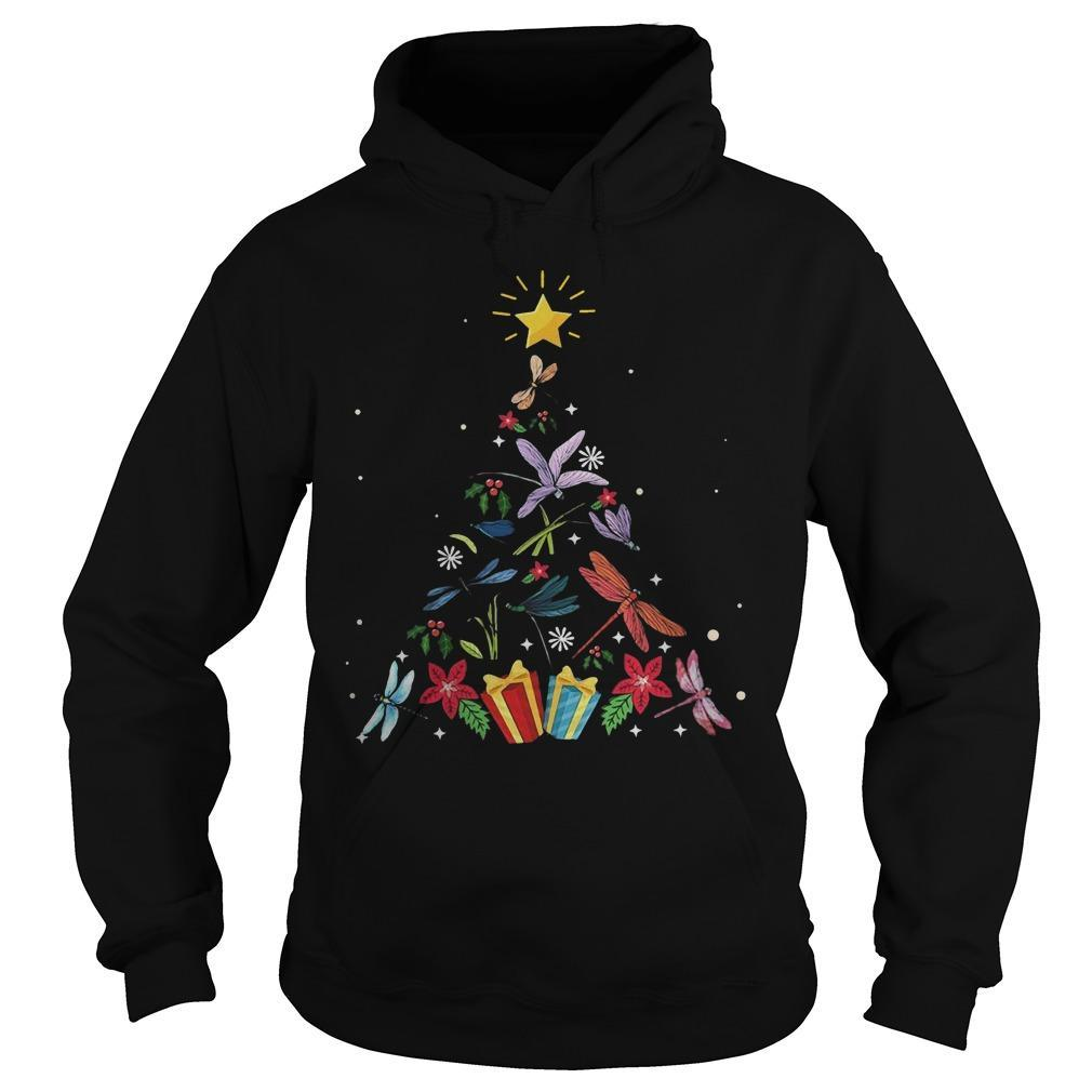 Christmas Tree Dragonfly Xmas Lover Gifts Hoodie